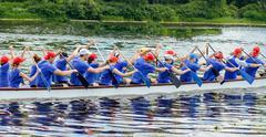 Dragon Boat Festival took place in Kiev Ukraine Stock Photos