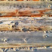 Old Wooden Blocks - stock photo