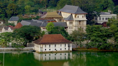 TEMPLE OF THE TOOTH RELIC KANDY SRI LANKA Stock Footage