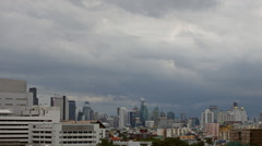 Rain cloud formation in the sky above the city Bangkok ,Time Lapse Stock Footage
