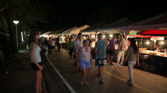 Night market birthday the king of Thailand. Phuket, Thailand Stock Footage
