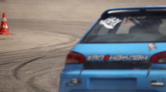 Drift trial racing car - stock footage
