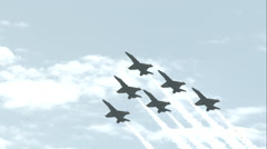 Blue Angels Performing a Delta Roll Stock Footage