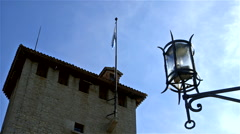 CESTA TOWER STREET LAMP CITY OF SAN MARINO REP Stock Footage