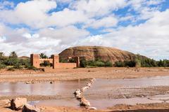 Moroccan kasbah of Ait ben Haddou near quarzazate - stock photo
