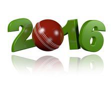 Cricket ball 2016 design - stock illustration