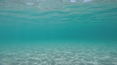 Turquoise water in Mediterranean sea Stock Footage