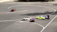 Drift RC models, radio control drift - stock footage