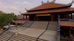 Aerial view Vietnamese temple 4 Stock Footage