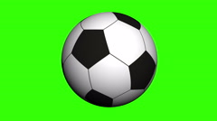 Soccer ball rotating on white background. Video animation - stock footage
