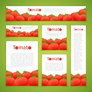 Set of Tomato Banners Stock Illustration