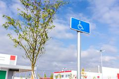 Handicap sign, Handicapped parking place - stock photo