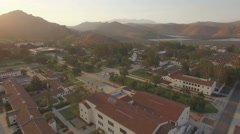 Channel Islands University with Santa Monica Mountains in the background Stock Footage