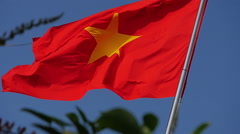 Vietnamese flag waving in the wind 2 Stock Footage