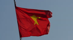 Vietnamese flag waving in the wind 4 Stock Footage