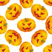 Halloween background with pumpkins Stock Illustration