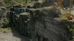 Aerial drone shot of a canyon Stock Footage