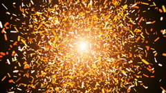 Fire dust particle explosion, Light ray effect. UHD 4k 3840x2160. - stock footage