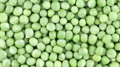 Fresh green pea rotate. Green pea clockwise rotation, macro Stock Footage