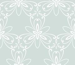 Floral Fine Seamless Vector Pattern - stock illustration