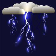 White Lightning Isolated Stock Illustration