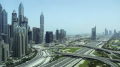 View of traffic near the Dubai Marina  Stock Footage