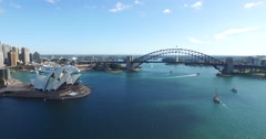 Sydney Harbour Aerial Stock Footage