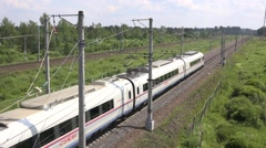 Sapsan high speed train moves full speed to Moscow Stock Footage
