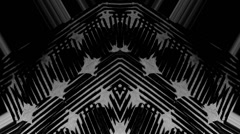 Black and white pattern fabric flows Stock Footage