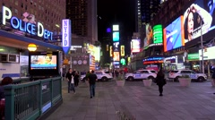 Times Square from the Times Tower at night. NYC, New York, USA. Stock Footage