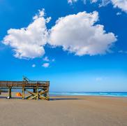 Atlantic Beach in Jacksonville of florida USA Stock Photos