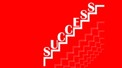 Success motivation movie with animated graphics, the letters jumping Stock Footage