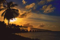 Florida Keys Bahia Honda Park US Stock Photos