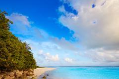 Florida Keys beach Bahia Honda Park US - stock photo