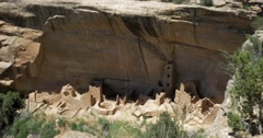 Mesa Verde National Park, Cliff Dwellings - stock footage