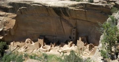 Mesa Verde National Park, Cliff Dwellings Stock Footage