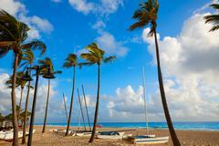 Fort Lauderdale beach sunrise Florida US Stock Photos