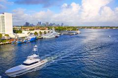 Fort Lauderdale Stranahan river at A1A Florida Kuvituskuvat
