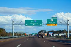 I-10 interstate in Jacksonville Florida USA - stock photo