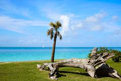 Key West beach fort Zachary Taylor Park Florida Stock Photos