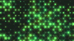 Hexagons network loop. Abstract background honeycomb mesh with pulsing hexagons. Stock Footage