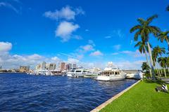 Palm Beach skyline  royal Park bridge Florida - stock photo