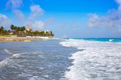 Palm Beach beach coastline Florida US - stock photo