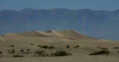 Mesquite Flat Sand Dunes, Death Valley National Park Stock Footage