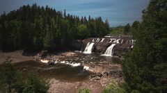 Lepreau, NB. Water Falls Stock Footage