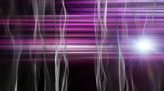 Fantastic animation with wave object and light in motion, loop HD 1080p Stock Footage