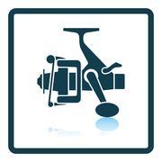 Icon of Fishing reel - stock illustration