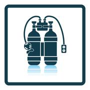 Icon of scuba Stock Illustration