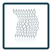 Icon of Fishing net - stock illustration