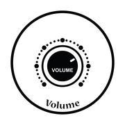 Volume control icon Stock Illustration